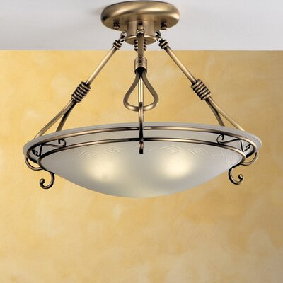 Modern Dali 2-Light Semi Flush Mount Size / Finish / Shade Color: 12.2 / Antique Brass Mat / Acid