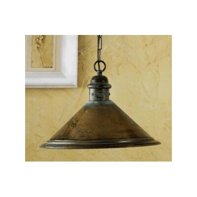 Rustik American Coop 1-Light Foyer Pendant Finish: Antique Green