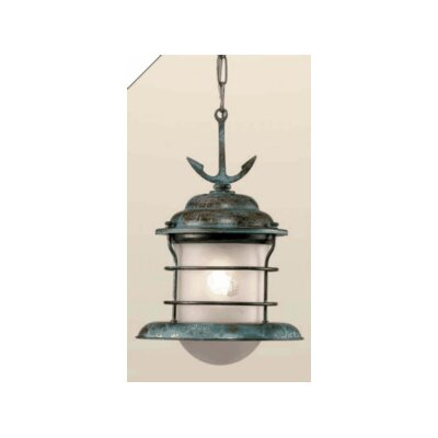 Nautic Caravela 1-Light Mini Pendant Size / Finish / Shade: 8.86 / Antique Green / Engraved Acid