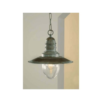 Nautic Ancora 1-Light Mini Pendant Glass Color: Acid, Finish: Antique Green
