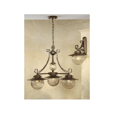Rustik Aranha Three Light Chandelier