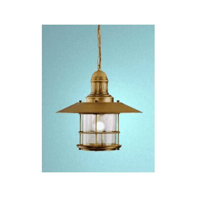 Nautic Ancora 1 Light Pendant Finish: Antique Brass Mat, Glass Color: Clear