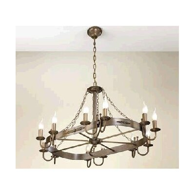 Rustik Medieval 120V Twelve Light Chandelier Finish: Antique Green