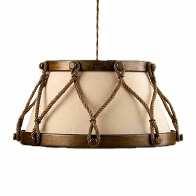 Rustik Tambor 1-Light Large Drum Pendant Finish: Earth, Size: 20.08 W
