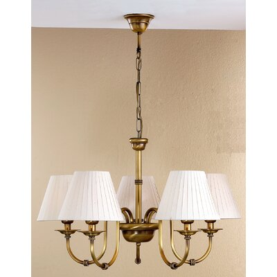 Classic Obidos 5-Light Shaded Chandelier Finish: Antique Brass Mat