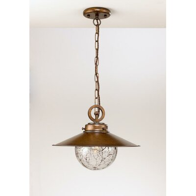 Rustik Aranha 1-Light Pendant Size: 16.93 H x 13.78 W, Finish: Earth
