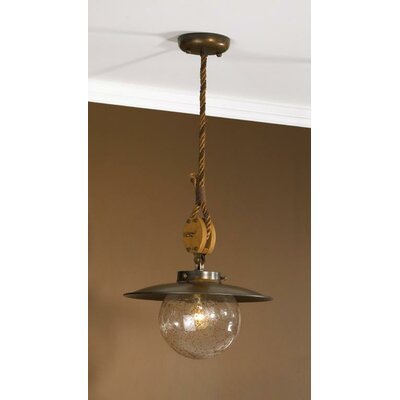 Nautic Cadernal 1-Light Pendant Size: Small, Finish: Earth