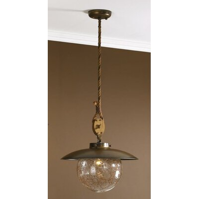 Nautic Cadernal 1 Light Pendant Finish: Antique Green, Size: Large