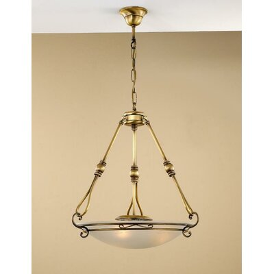 Modern Dali 2 Light Pendant Glass Color: Acid, Finish: Antique Green