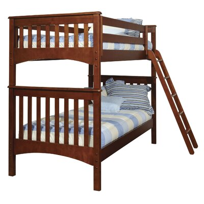 Bonneau Modern Twin Bunk Bed Finish: White