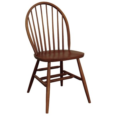 Bonneau Back Solid Wood Dining Chair Chair Finish: Chestnut