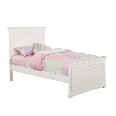 Cambridge Full Panel Bed Size: Twin, Finish: White