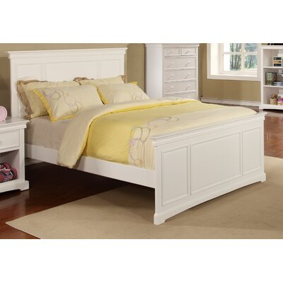 Cambridge Full Panel Bed Finish: White, Size: Full