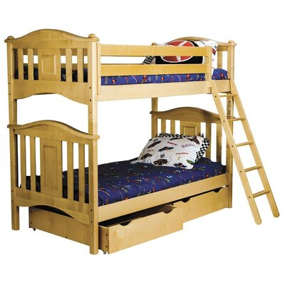 Bad credit financing Lyndon Twin over Twin Bunk Bed Fini...
