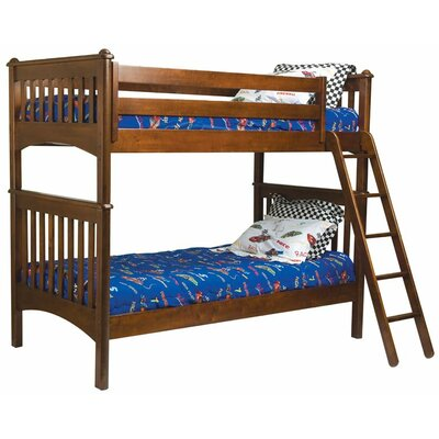 Furniture financing Mission Twin over Twin Bunk Bed wit...