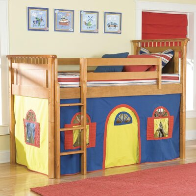 Lease to own Bennington Twin Low Loft Bed with B...