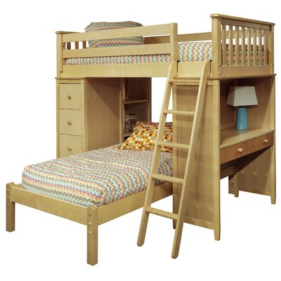 Bonneau Twin Over Twin Bed with Lower Platform
