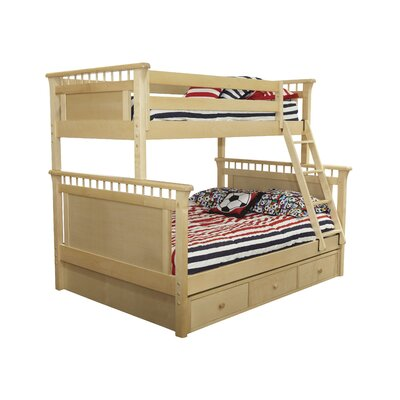 Bonneau Bunk Twin Over Twin Bed with Under Bed