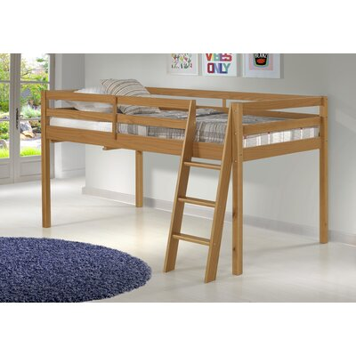 Gladwin Wood Framed Twin Low Loft Bed Bed Frame Color: Cinnamon