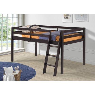 Gladwin Wood Framed Twin Low Loft Bed Bed Frame Color: Espresso