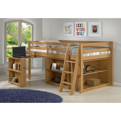 Gladwin Twin Low Loft Bed Bed Frame Color: Cinnamon
