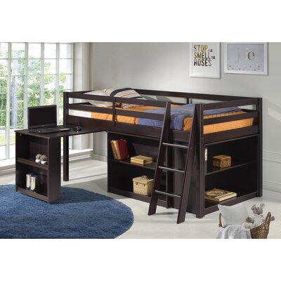 Gladwin Twin Low Loft Bed Bed Frame Color: Espresso