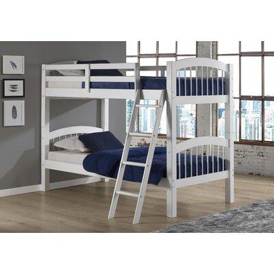 Bechtol Bunk Bed Bed Frame Color: White
