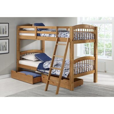 Bechtol Twin Bunk Bed with Storage Drawers Bed Frame Color: Cinnamon