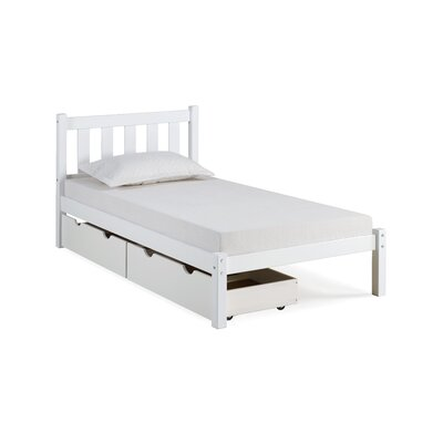 Beck Platform Bed with Storage Drawers Size: Twin, Bed Frame Color: White