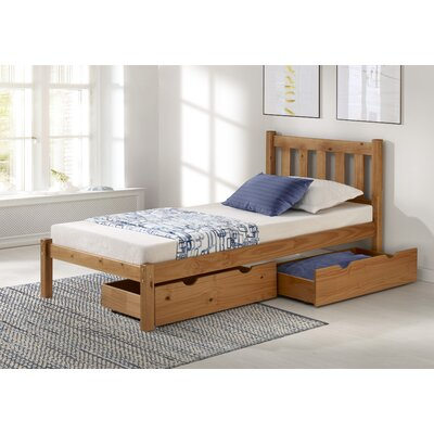 Beck Platform Bed with Storage Drawers Size: Twin, Bed Frame Color: Cinnamon