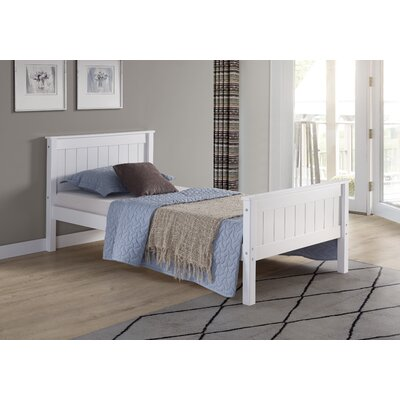 Beckett Slat Bed Size: Twin, Bed Frame Color: White