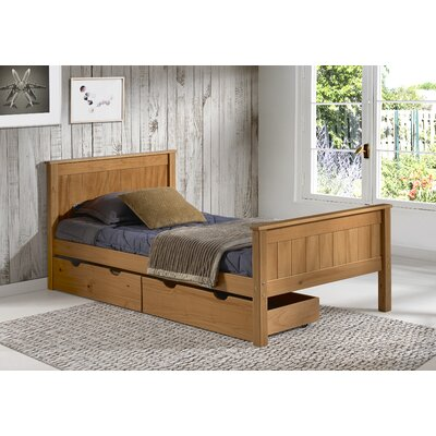 Beckett Slat Bed with Storage Drawers Size: Full, Bed Frame Color: Cinnamon