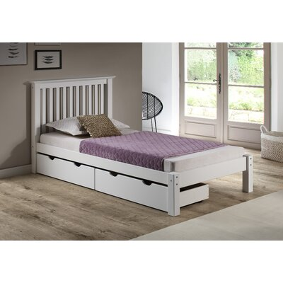 Beckmann Platform Bed with Storage Drawers Size: Queen, Bed Frame Color: White