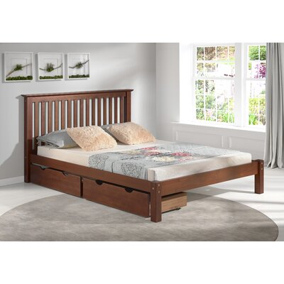 Beckmann Platform Bed with Storage Drawers Size: Full, Bed Frame Color: Chestnut