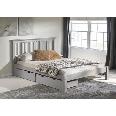 Beckmann Platform Bed with Storage Drawers Size: Twin, Bed Frame Color: Dove Gray