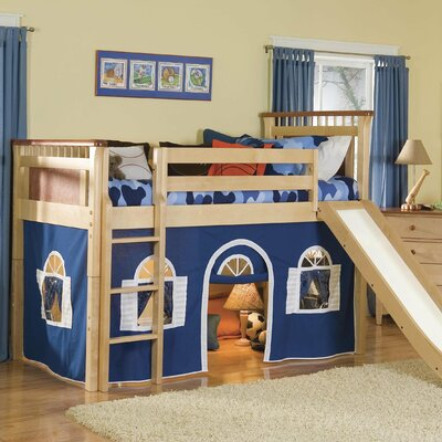 Easy financing Bennington Twin Low Loft Bed with B...