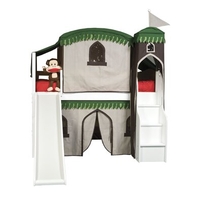 Furniture rental Mission Twin Low Loft Bed with Tent...