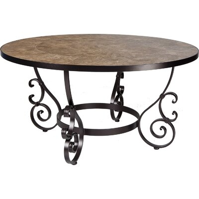 San Cristobal Dining Table Umbrella Hole Copper Canyon Table picture