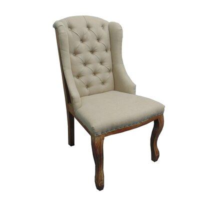 Linen Parsons Chair Upholstery: Sank/Bark