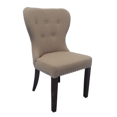 Linen Parsons Chair Upholstery: Brown/Espresso