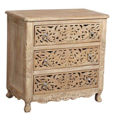 Aveliss 3 Drawer Antique Chest Color: White Antique
