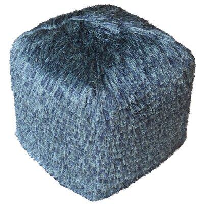 Hand Woven Ottoman Upholstery: Blue