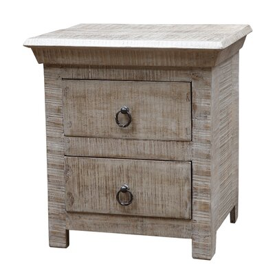 Troy 2 Drawer Nightstand Finish: Gray Wash