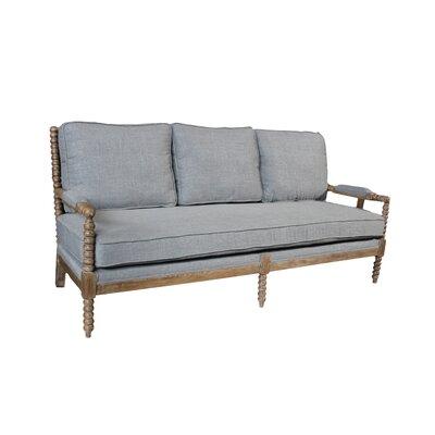 Linen Sofa Color: Gray