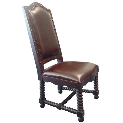 True Genuine Leather Upholstered Dining Chair