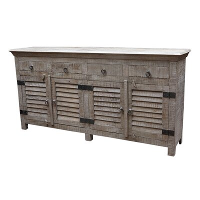 Troy 4 Drawer Sideboard Color: Grey Wash