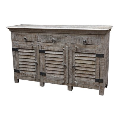 Troy 3 Drawer Sideboard Color: Grey Wash