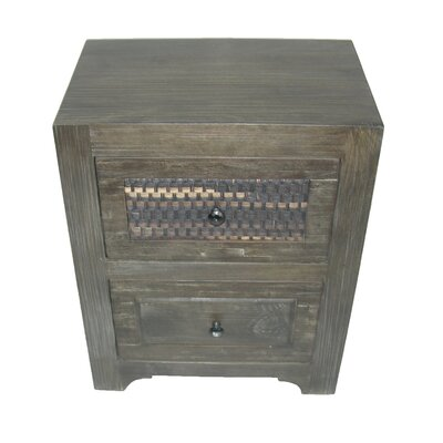 Woven 2 Drawer Nightstand