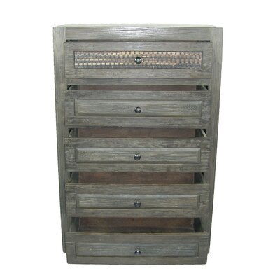 Woven 5 Drawer Chest