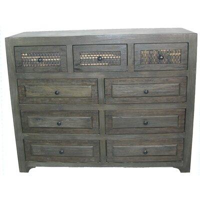 Woven 9 Drawer Dresser